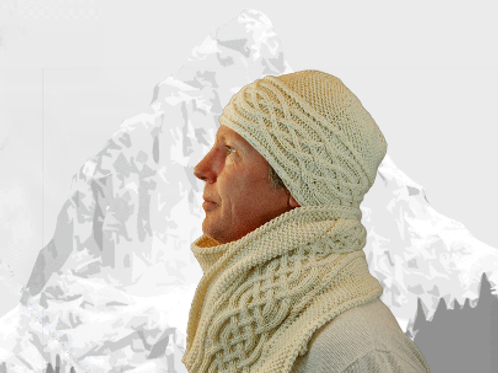 """Scarf & Hat """"Vancouver Island"""" - Pure Cashmere"""