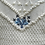 "Thumbnail: Trachten Cardigan ""Maligne Lake"" - merino blue"