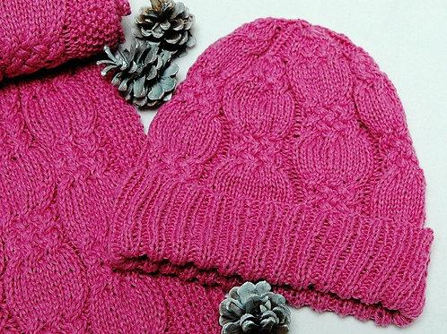 "Scarf & Hat Set ""Flores Island"" - pure cashmere"