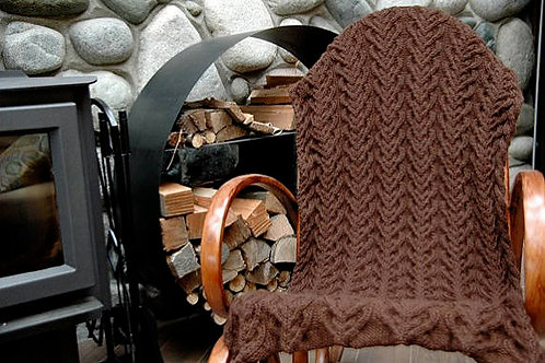 "Throw Blanket ""Larch"" - Royal Alpaca"