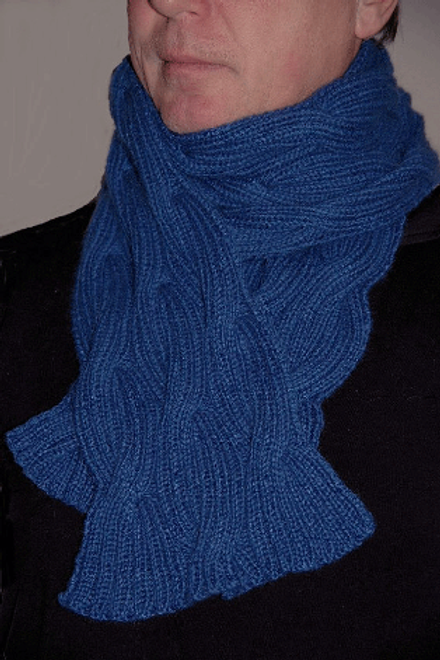 "Scarf & Hat ""Galiano Island blue"" - Pure Cashmere"