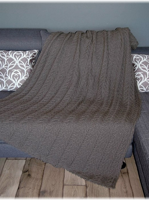 "Throw Blanket ""Larch"", pure qiviut"