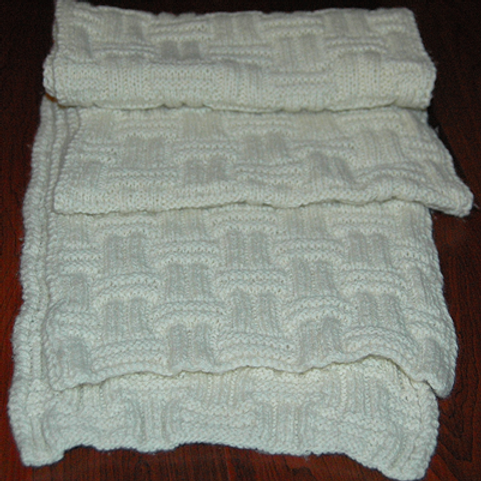 """Scarf """"Pender Island"""" - Pure Cashmere natural"""