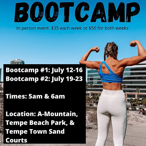 Bootcamp July 19-23