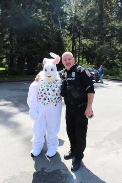 Tribal Police and bunny