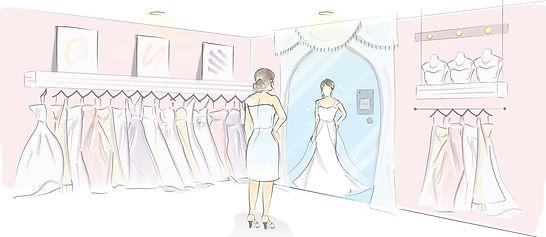 magic mirror-wedding boutique interior.j