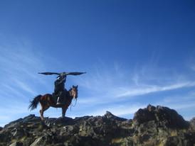 Kazakh eagle hunter in Mongolia