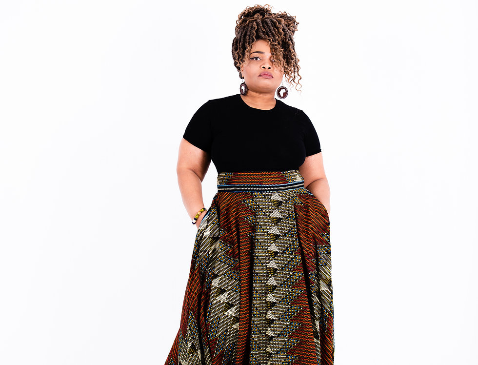 Oni Ketepa Floor Length Skirt