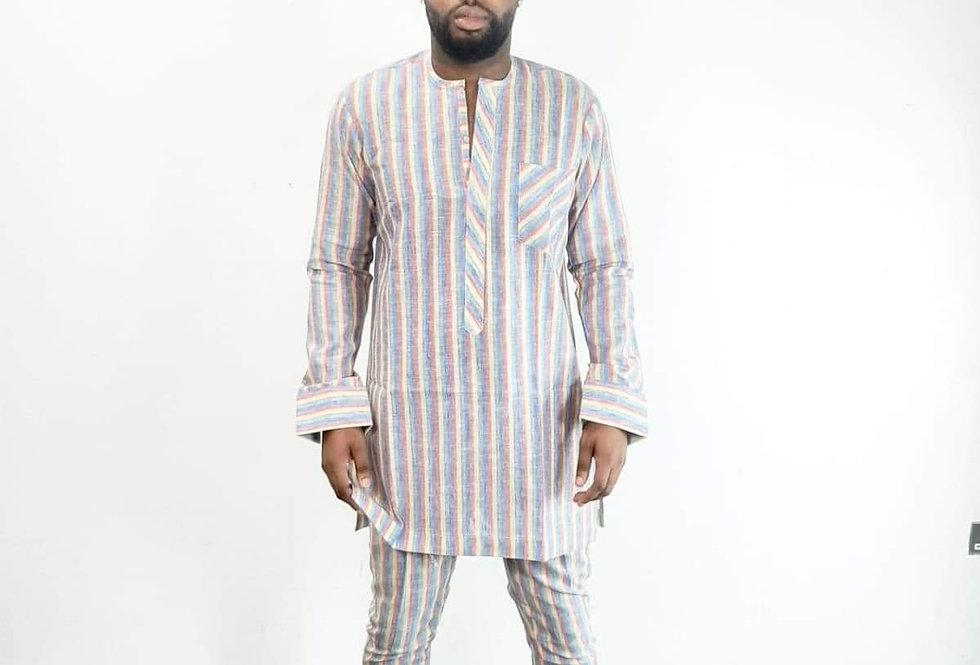 Esam Two Piece Striped Suit