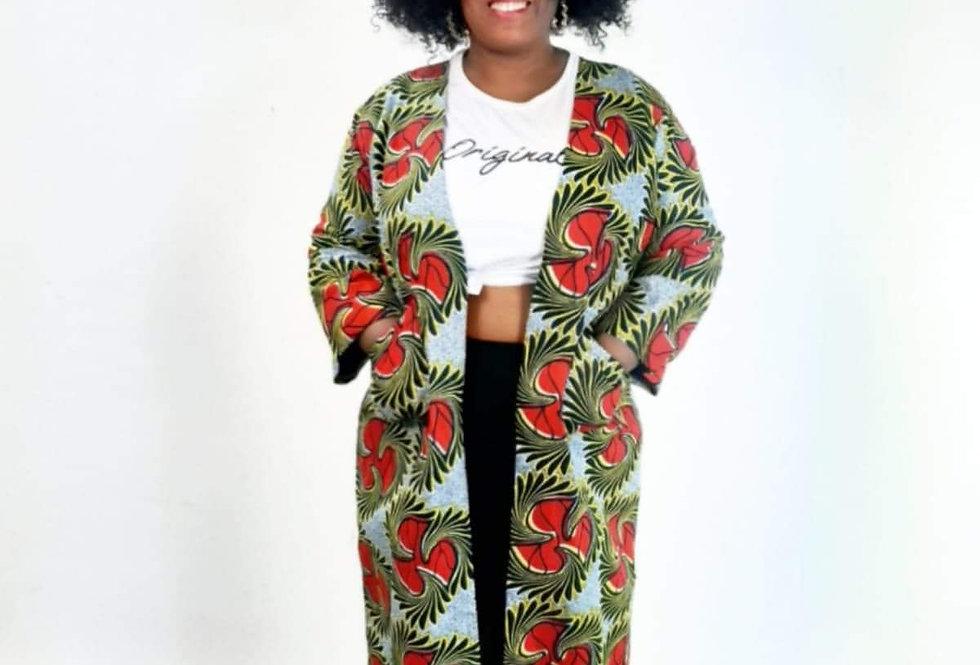 Malikah Long Open Robe Jacket