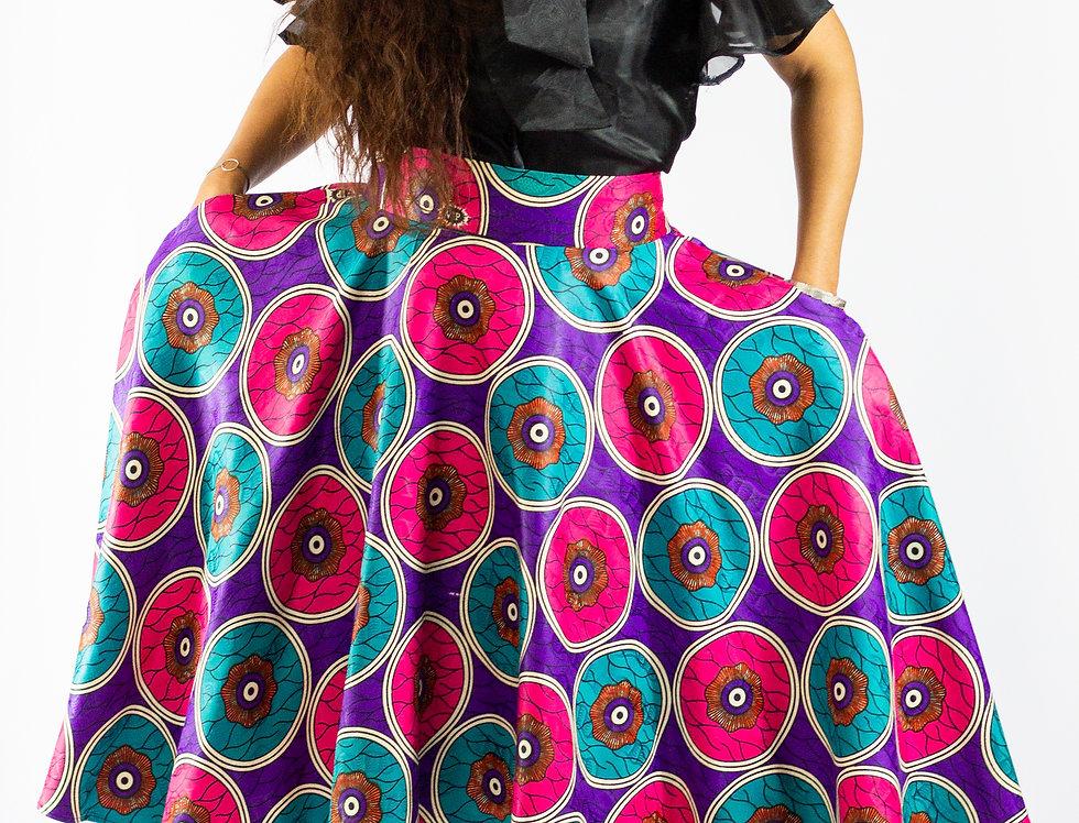 Gyasi Dipped Hem Floor Length Skirt
