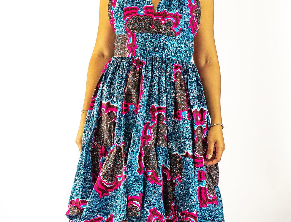 Yihana Akyekyedie Mid Length Halter Dress