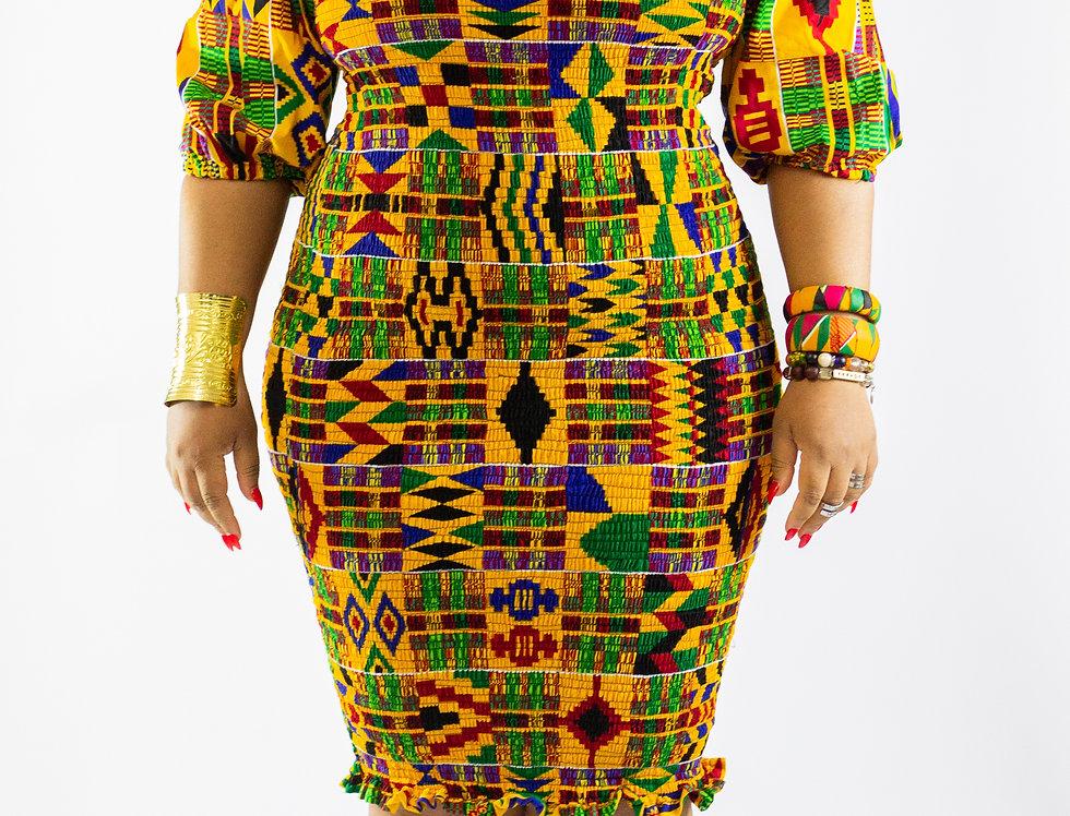 Johanna Kente Elasticated Dress