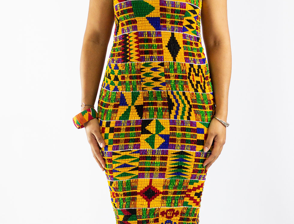 Valerie Kente Elasticated Dress