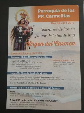 SANTANDER - Solemnes Cultos en honor de la Sma Virgen del Carmen