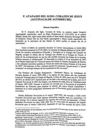 ¿Canonizables? 5 - P. Atanasio