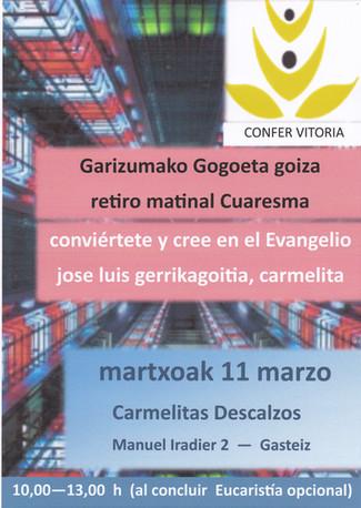 P. José Luis Gerrikagoitia - Confer Vitoria - Retiro Matinal de Cuaresma