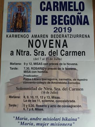 BILBAO - NOVENA y FIESTA DEL CARMEN