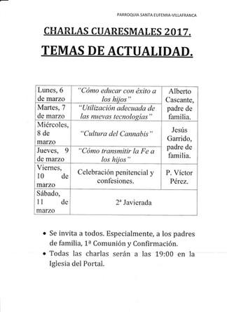 VILLAFRANCA - Cuaresma - La Familia