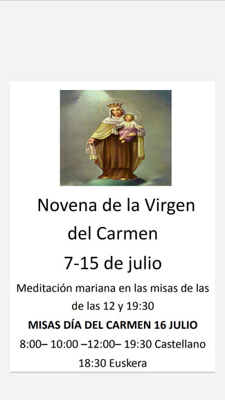 VIVA LA VIRGEN DEL CARMEN - Calahorra - Santander - Corella - San Sebastián