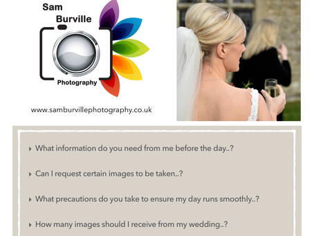 Top Questions to ask your Wedding Photographer.