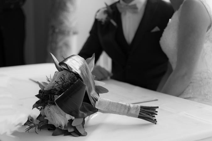 Bride and Groom Flowers
