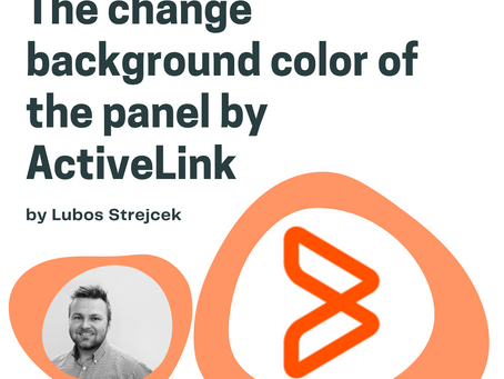 The change background color of the panel by ActiveLink