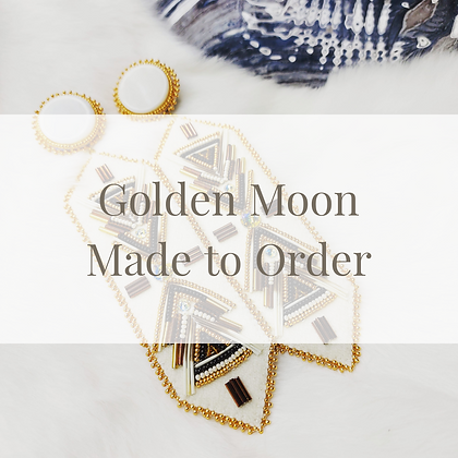 Golden Moon Earrings - Made to Order