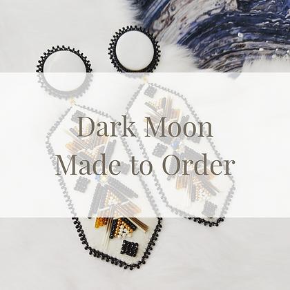 Dark Moon Earrings - Made to Order