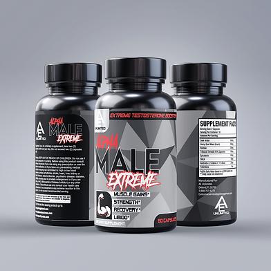 Alpha Male Extreme - 3 bottle grey backg