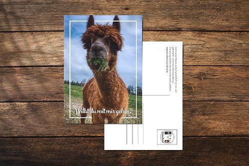 Postkarte - Willst du mit mir gehen?