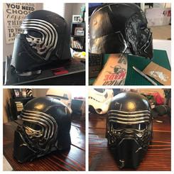 Custom Distressed Kilo Ren Helmet