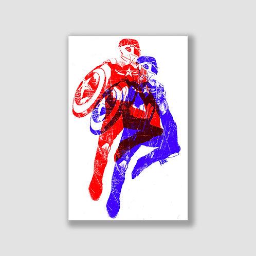 Captain America Offset Print