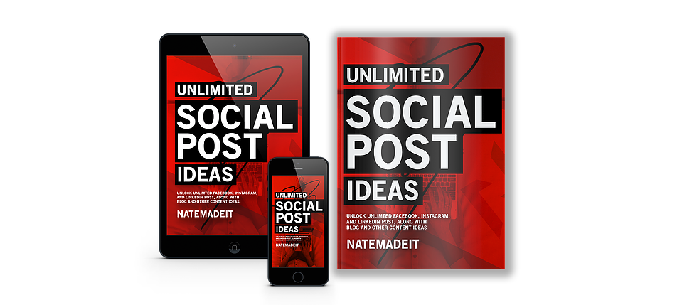 Unlimited Social Post Ideas Mock Ups