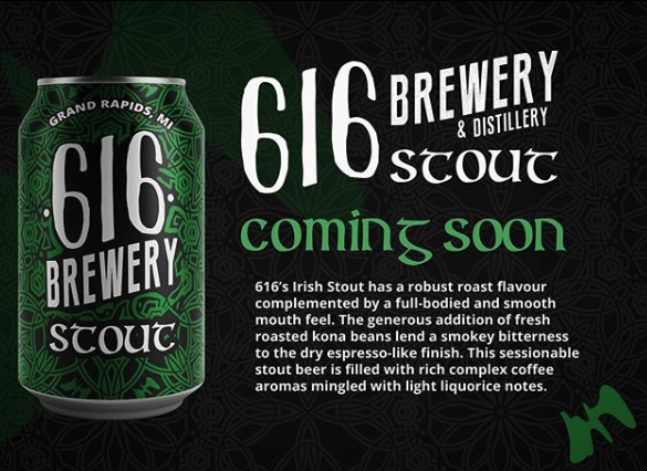 616 Brewing Irish Stout Can Design