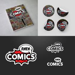 AMKM Comics Logo Mock Up