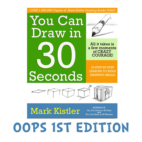 Autographed Blooper First Edition You Can Draw in 30 Seconds! Book