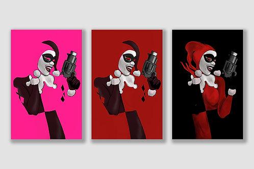 Harley Quinn Negative Space Set