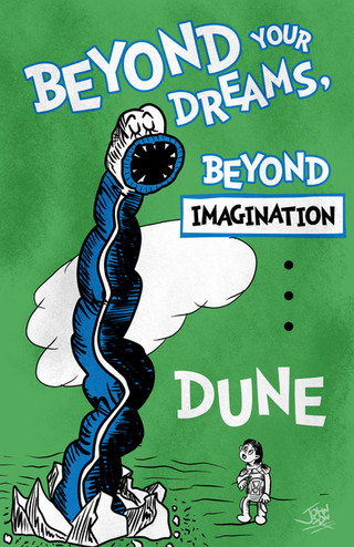 Dr. Seuss style Dune Movie Poster