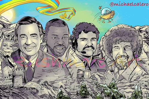 Mt. Rushmore Of PBS 1980's Icons!