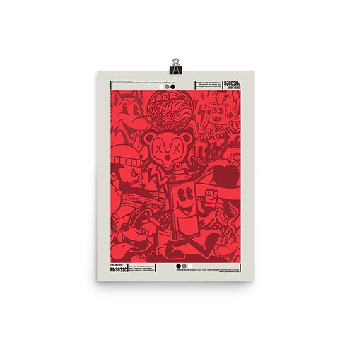 PMS 032C Poster