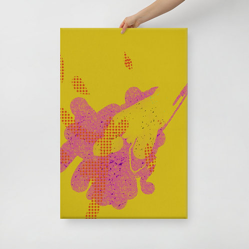The Yellow and Pink Canvas