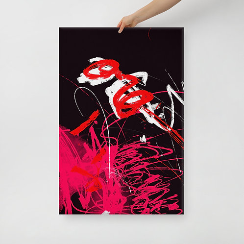 Red Abstract Canvas