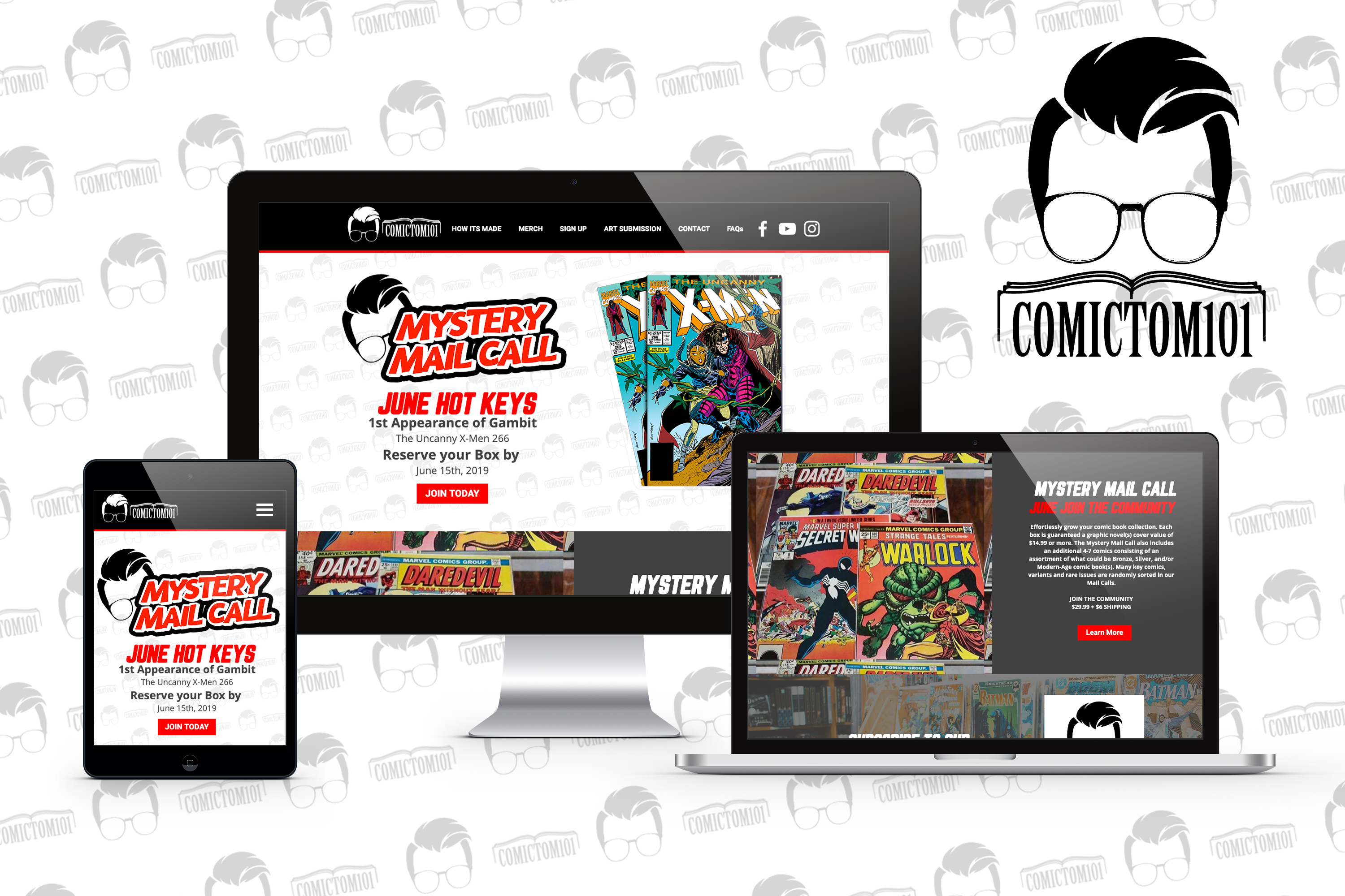 ComicTom101 Website Mock Up