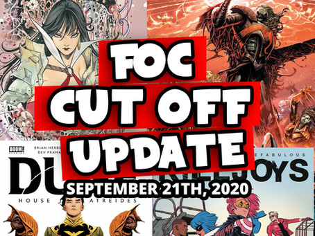 DON'T MISS OUT!!! FOC Monday 9/21/20