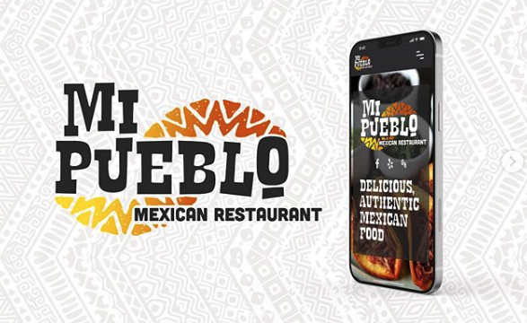 Mi Pueblo Logo and Mobile Mock Up