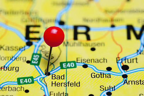 Bad Hersfeld pinned on a map of Germany