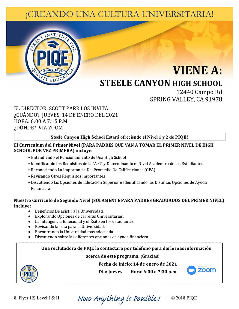 PIQE 2021- Flyer HS Level I and II Steel
