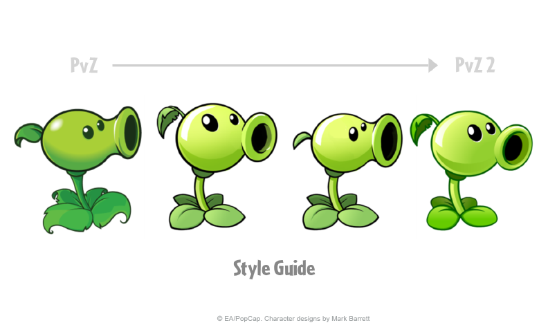 PVZ2_StyleProcess_PeaShooter
