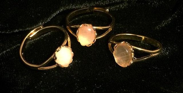 Rose Quartz Mini Ring Set 3pc